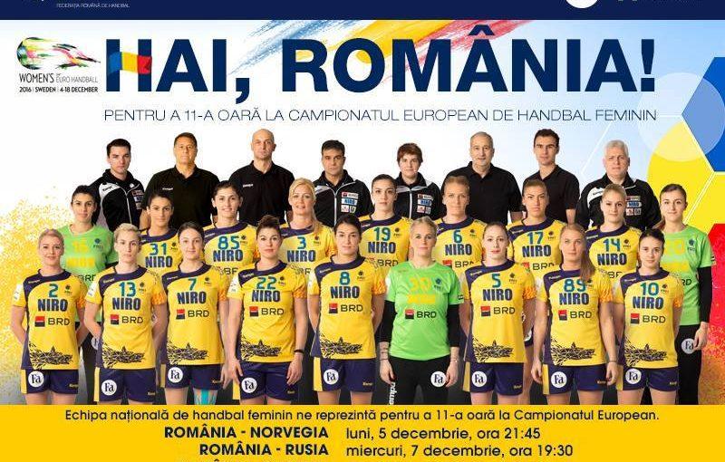 Baftă, fetelor! Începe Campionatul European de handbal!